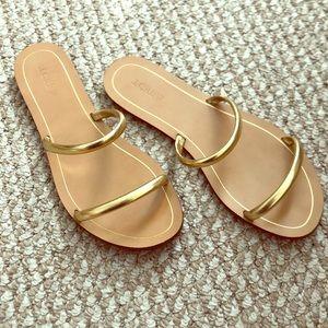 J. Crew Gold Sandals (10)